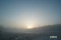 残雪の神仙沼~夜明け