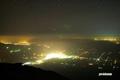 倶知安町と余市沖の漁り火・人工衛星等