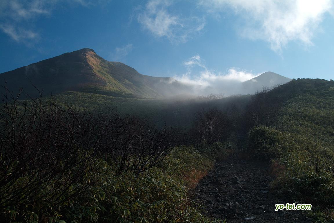 登山道からのニセコアンヌプリ↓