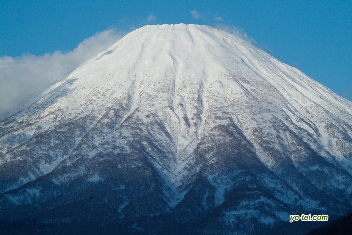 元旦の羊蹄山