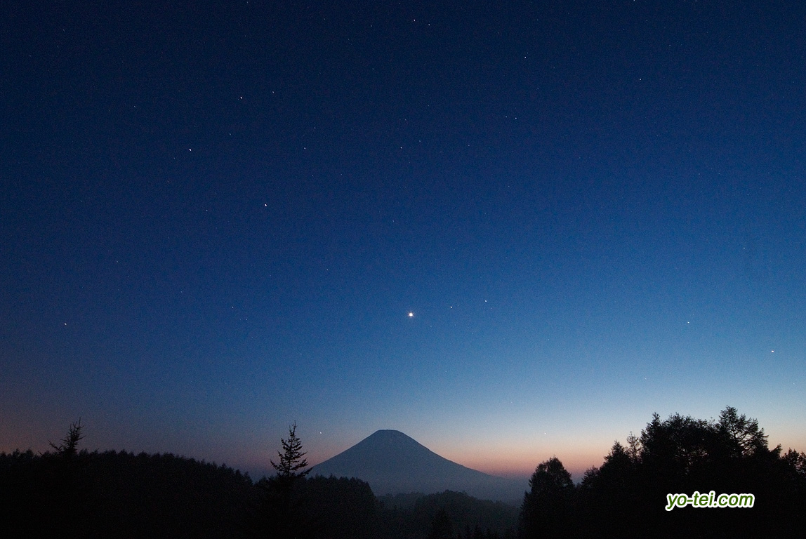 夕空の三惑星