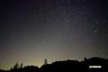 神仙沼の星空~冬神仙沼の星空~ふたご座と流星