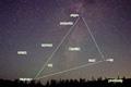 神仙沼の星空~西に傾いた夏の大三角