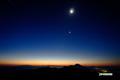 昇る獅子と月・金星・土星