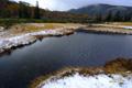 新雪の神仙沼湿原