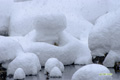 尻別川~雪のオブジェ