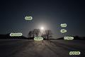 月・ニセコ連峰・樹影