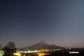 月明かりの羊蹄山と星空~わし座・いて座・さそり座・木星