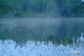 霧が薄れた神仙沼