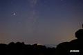 山頂の星空~木星・いて座・天の川