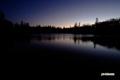 夜明け間近の神仙沼