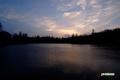 朝焼けの神仙沼