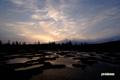 朝焼けの神仙沼湿原