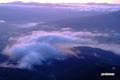 早朝の雲~日の出直前