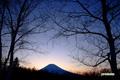 夕暮れの羊蹄山