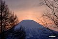 夕刻の羊蹄山