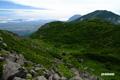 イワオヌプリ最高部と羊蹄山・ニセコアンヌプリ