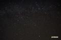 カシオペヤ座・ケフェウス座付近と人工衛星(名称不明)