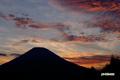 夕焼け・羊蹄山