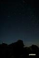 シルエットの山頂と木星他