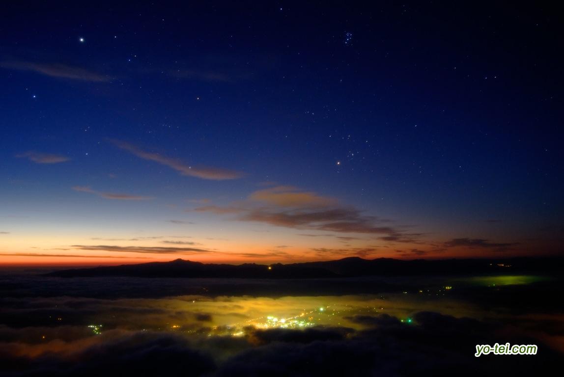 夜明け~倶知安町(ぎょしゃ座・おうし座)