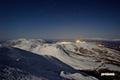 月明かりのニセコ連峰・岩内町方向
