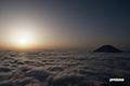朝陽・雲海・羊蹄山