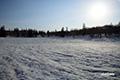 残雪の神仙沼・朝陽