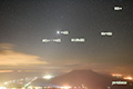 金星・木星・火星と流星