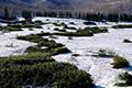 残雪の大谷地