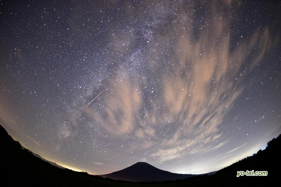 ペルセウス群の流星