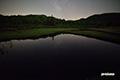 池塘の星空