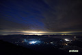 羊蹄山からの夜景~京極・喜茂別(夜明け前)