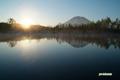 早朝の羊蹄山