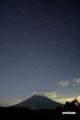 静止流星とスワン彗星