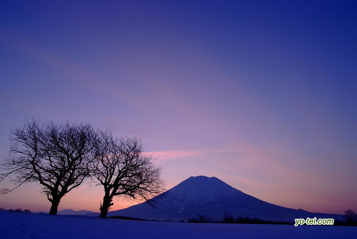 羊蹄山~朝焼け