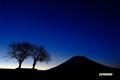 羊蹄山とサクランボの木と火星