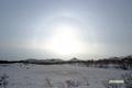 神仙沼近くの無名湿原付近と日暈