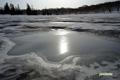 残雪の神仙沼湿原
