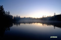 日の出直前の神仙沼