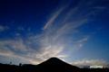日没間近の羊蹄山