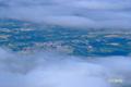 雲の間からニセコ町