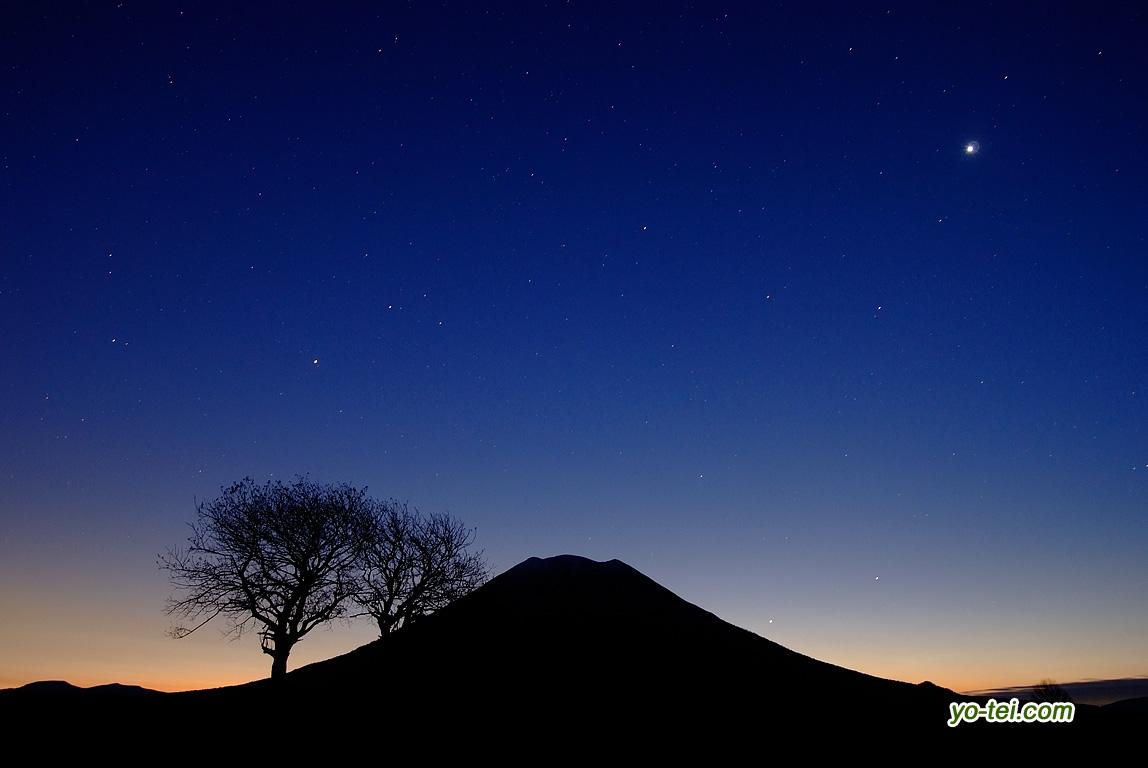 金星・水星・羊蹄山