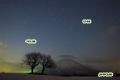 サクランボの木と星空~ペガスス座・羊蹄山