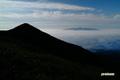 雲海に浮かぶ昆布岳