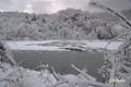 初冬の半月湖