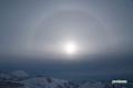日暈・羊蹄山
