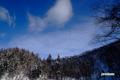 半月湖畔・雲