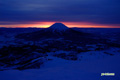 日の出前~羊蹄山