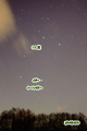 昇る獅子と土星・ルーリン彗星